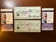 Rare JSA COA golf Hall of Fame Gene Sarazen lot of two signed personal checks