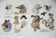 (2) Vtg Paper Doll Greeting Post Cards 1992 Bushytail Family art Kathy Lawrence