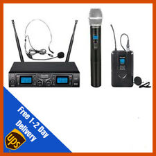 Pulse UHF Dual Handhelid +  Headset Wireless Microphone Mic System | DJ | PA