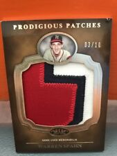2012 Topps Tier One Prodigious Patches Warren Spahn #'d To 10
