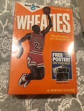 Michael Jordan First Edition Wheaties Box Unopened! With Poster Org Seal 1989