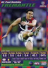 2007 PAUL HASLEBY DOCKERS FREMANTLE NEW teamcoach CARD 82 **POSTPAK**