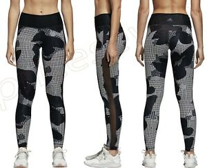 adidas Women Training BELIEVE THIS HIGH-RISE Black Print Tights Bottoms