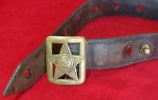 Original Wwii Mod 1935 Red Army Soviet Ussr Leather Belt with Buckle