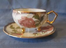 SHAFFORD  HAND PAINTED 3 LEGGED CUP & SAUCER