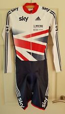 GB OFFICIAL Cycling Skin Suit / Adidas Training  Skinsuit LS Mens size small