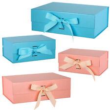 Large A4 Gift Box Ribbon Magnetic Seal Corporate Gifting Wedding Hamper Basket