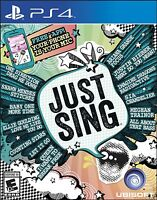NEW Just Sing (Sony PlayStation 4, 2016)