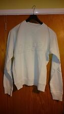 """Men's Sweater/Jumper - Diesel - Whiteish Blue - """"Forever Yours"""" Last One XL"""