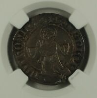 1300-1500 France Gros Silver Coin Roberts-8932 Metz Mint NGC AU-55 AKR