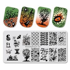Nail Art Stamping Plate Image Halloween Pumpkin Ghost Spider Web Skull (BBBX20)