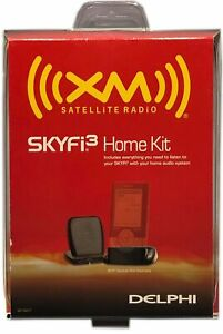 Delphi SA10227 Skyfi3 Home Kit for XM Satellite Radio Compact Design New Sealed
