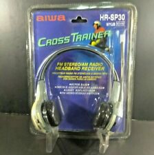 Vintage AIWA CrossTrainer HR-SP30 SPORT Headphone Radio w/ Digital Tuner