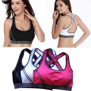 Sports Bra Padded Top Athletic Vest Gym Fitness Sports Yoga Running Jogging