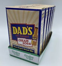 Lot of 6 Boxes 0 Sugar DAD'S Old Fashion Cream Soda SINGLES TO GO Drink Mix E6