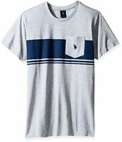 U.S. Polo Assn. Mens Short Sleeve Solid Classic Fit Pocket T-Shirt