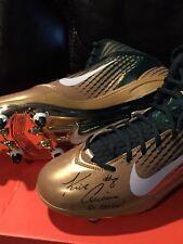 Kirk Cousins autographed MSU Nike Pro Combat Shoes