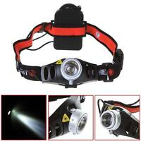 6000 LM Q5 LED Ultra Bright Zoomable Flashlight Headlamp Headlight AAA F&
