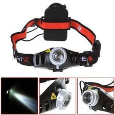 6000 LM CREE Q5 LED Ultra Bright Zoomable Flashlight Headlamp Headlight AAA CB