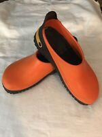 Birkenstock Unisex Orange Black Super Birkis Clogs Mules Shoes 245 L 7 M 5