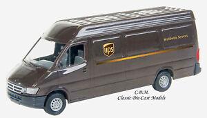 UPS Dodge Sprinter Delivery Van Brown 1/87 HO Walthers SceneMaster 12200