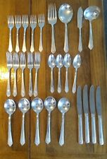 New ListingLot of 26 Royal Saxony Silver Plate Flatware + 3 Serving Pieces