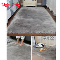 Large Sheepskin Rug Fluffy Soft Wool Shaggy Area Rugs Faux Fur Hairy Mats