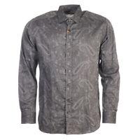 Etro Chemise Gris Ton sur Ton Cachemire Coton Taille 41 Tr 265