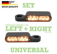Harley LED Blinker getönt + Blinkerhalter schwarz Lenkerarmatur E-gep. Sportster