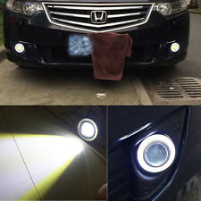 "3.5"" Car Fog Light COB LED Projector White Angel Eye Halo Ring DRL Driving Bulbs"