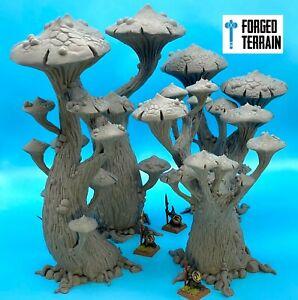 Magic Mushroom Trees - Scatter terrain, Scenery, Warhammer, DnD, Frostgrave.