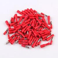 100X  4MM Red Insulated Female Male Bullet Butt Connector Crimp Terminals hv2n