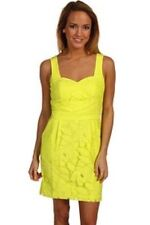 NWT BCBGeneration Tulip Dress Neon Lime Green Size 4 Small Pinup  Lace Pockets-F