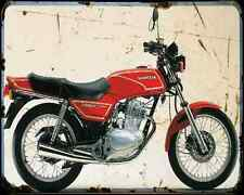 Honda Cb 250Rs 81 A4 Metal Sign Motorbike Vintage Aged