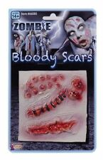 Gory Fake Wounds Zombie Monster Bloody Stick Make Up Scars Halloween Fancy Dress
