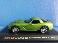 DODGE VIPER STR 10 2008 GREEN NOREV 950028 1/43 VERT VERDE GRUN DIE CAST MODEL