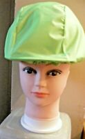 WATERPROOF HORSE RIDING HAT COVER / REFLECTIVE STRIP. FLO GREEN  RHC10