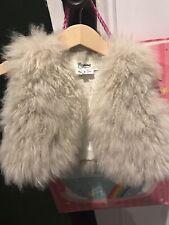 Bonpoint Mongolian lambs Fur Girls Vest Size 2 RRP $ 300 + Very Rare