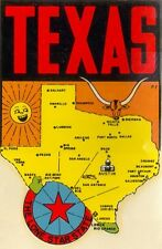 Vintage Travel Decal Replica Window Cling - Texas