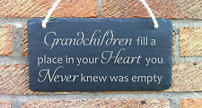MOTHERS DAY GIFT FOR GRANDPARENTS SLATE HANGING SIGN PLAQUE