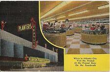 Planters Peanut Store in Atlantic City NJ Advertising Postcard