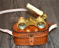 Brass-binocular-vintage-opera-theater-glasses-mother-of-pearl-with-box
