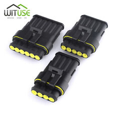 1/2/3/4/5/6 Pin Way Sealed Waterproof Electrical Wire Connector Plug Kits X5 62