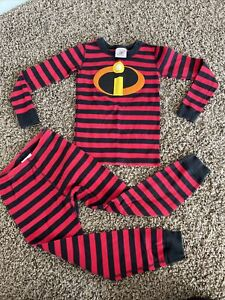 HANNA ANDERSSON size 6-7 -120cm INCREDIBLES 2 pajamas set black & red
