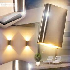 LED Aplique exterior cromo camino jardín patio balcón terazza veranda