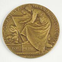 1915 SCHOOL ART LEAGUE OF NEW YORK CITY Merit Award. Solid Bronze. John Flanagan