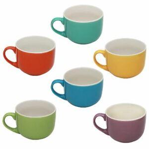 1 Tazzone Tazza Latte Jumbo in Ceramica Style 500 ml 6 Colori