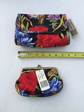 Diana Marsh Impressions Clutch with Coin Purse new with tags, floral print NWT