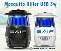 USB Mosquito Fly Insect Bug Killer Electric 5w Lamp Zapper Trap Killer LED Mute