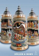 Panoramic Christmas Market German Beer Stein .75L ONE Mug Made in Germany New